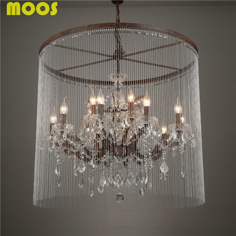 Popular wrought iron crystal chandelier buy cheap wrought iron ...