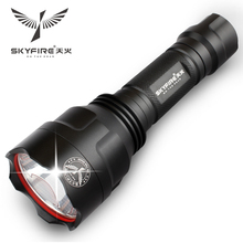SKYFIRE Waterproof LED Flashlight Lanterna With Rechargeable 18650 Tactical Linternas Torch Lights Self Defense Head Work Lamp