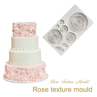 Roses Flower Silicone Mold Cake Decorating Tools Fondant Mold Wedding Cake Lace Decor Silicone Mould Chocolate Cookies Mould