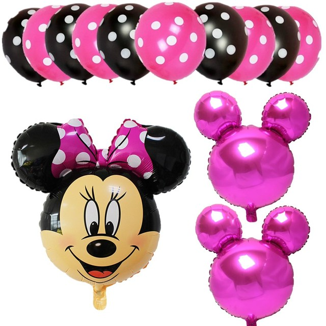 13pcs/lot Mickey Minnie Mouse Foil Balloons For Wedding Decoration ...