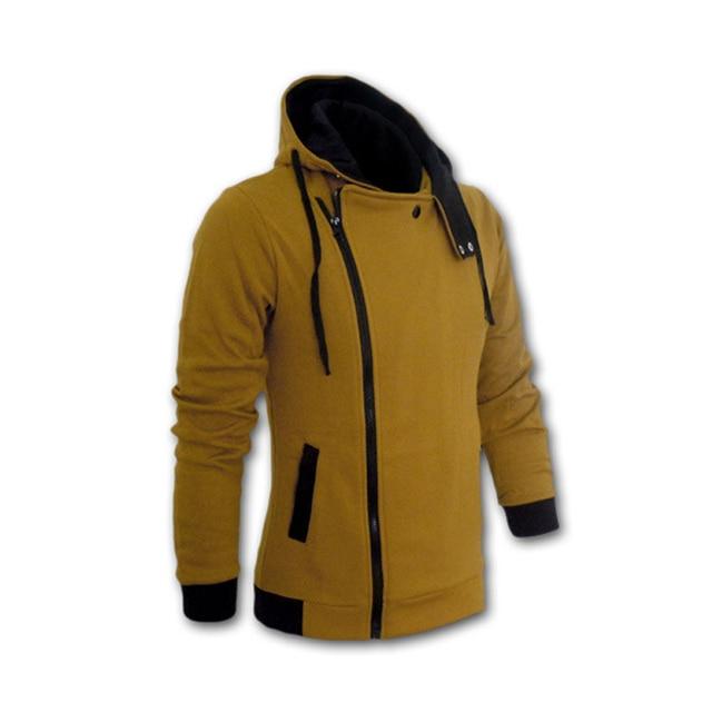 2018 Casual Cardigan Men Hoodie Sweatshirt Long Sleeved Slim Fit Male Zipper Hoodies Assassins Creed Jacket Plus Size M-6XL 5