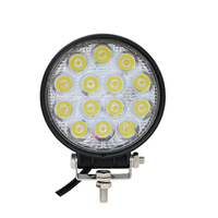 42W 12V 24V LED Work Light Spot Flood Round LED Offroad Light Lamp Worklight For Off