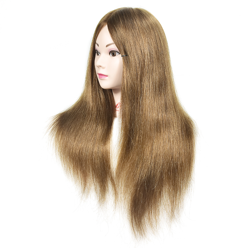 Training Head With Human Hair For Practice Dummy Hairstyles Long Hair And Natural Head Training For Hairdresser Mannequin Head