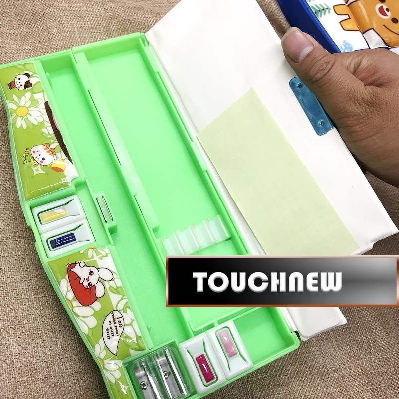 Multifunction Case with Sharpener Calendar school supplies Students Pencil Box Escolar Papelaria Chancery creative multifunction automatic pencil case boy cute pupils pencil box escolar school papelaria penalties chancery calendars