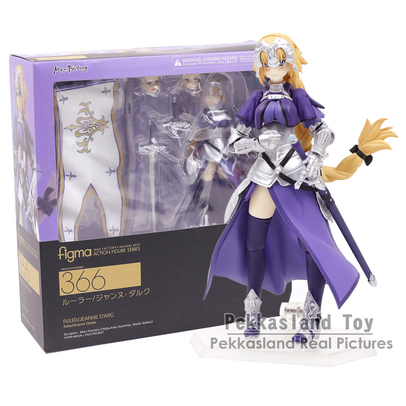 Anime Fate Grand Order Jeanne d'Arc Ruler Figma 366 PVC Action Figure Collection Model Kids Toys Doll 14cm fate grand order anime saber jeanne gilgamesh e f g h i j series japanese rubber keychain