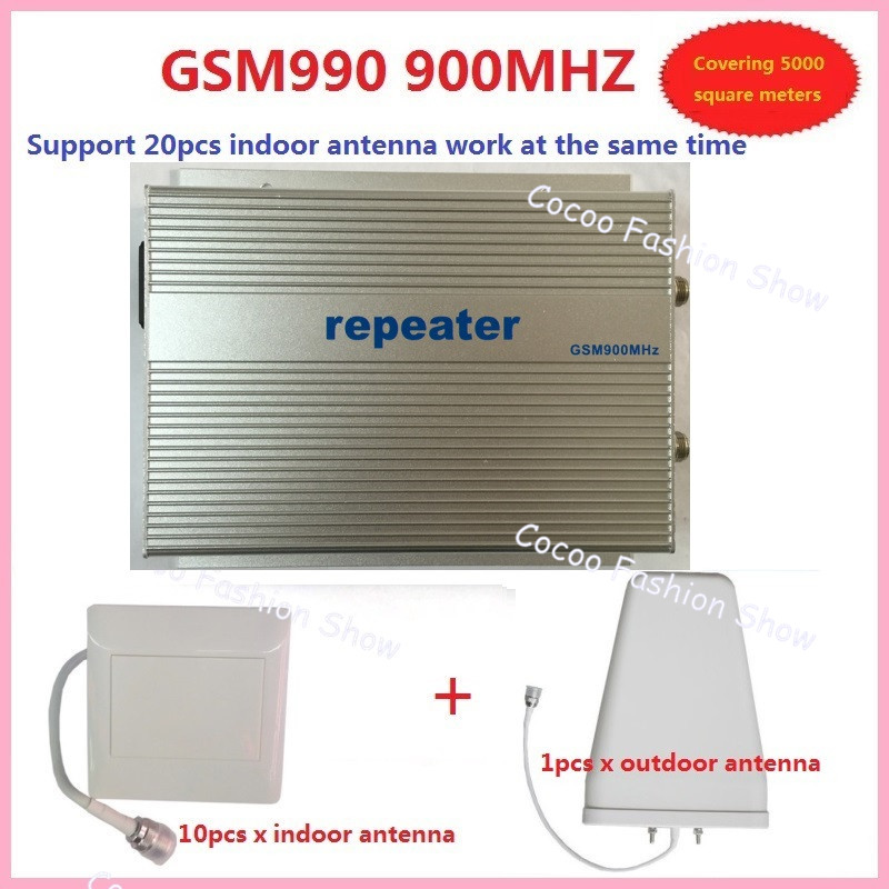 3w GSM990 GSM 900Mhz Mobile Cell Phone Signal Booster Repeater Amplifier Gsm Cellular 10pc Antenna