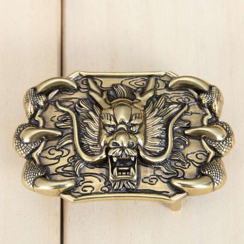 Belt Buckle ,Fashion Man's Belt Buckle ,width:4.5*7cm,Suitable For 3.3-3.8cm Belt Belt Agio 3D Animal Stud Vintage Buckle,