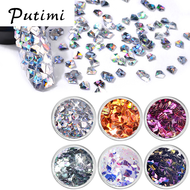 US $2 74 45% OFF|Putimi 6 Colors Mix Rhinestones for Nails Accessoires 3D  Nailart Diamonds Nail Charms New Nail Decorations 2018 Manicure Design-in