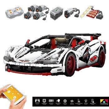Новый 13067 Technic 20087 McLaren P1 Hypercar 1:8 гоночный автомобиль строительные блоки кирпичи совместимые MOC-16915 игрушки для детей