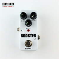 KOKKO FBS-2 Mini Guitarra Overdrive Pedal Efeito Guitarra Overdrive Impulsionador High-Power Dispositivo de Efeito de Guitarra Do Tubo Dois Segmentos EQ
