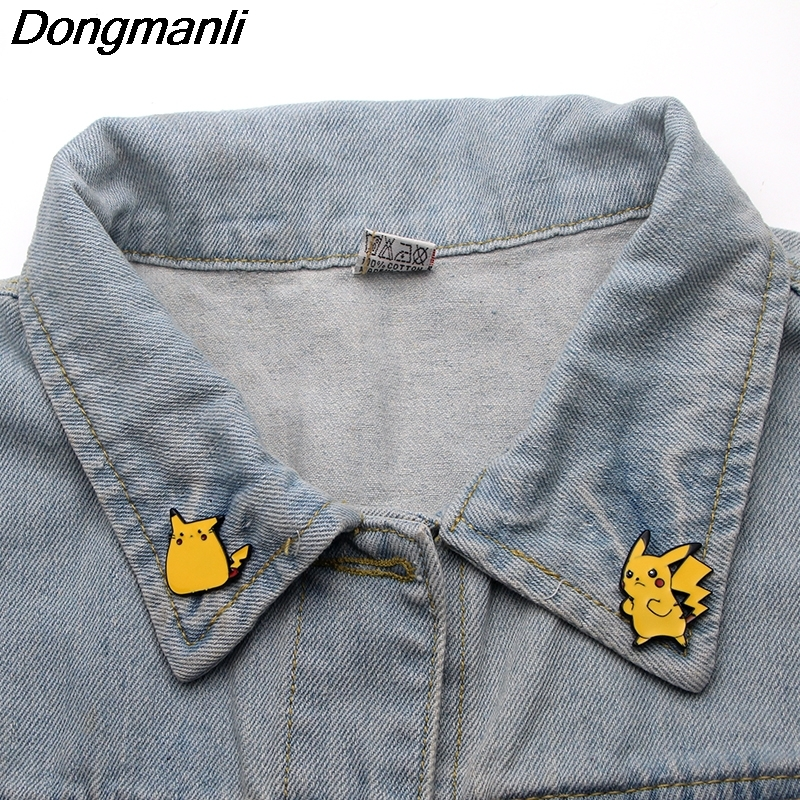 Image 2 - P3356 Wholesale 20pcs/lot Cute  Metal Enamel Pins and Brooches  for Women Men Lapel Pin backpack bags Hat badge GiftsBrooches   -