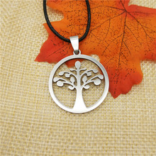 LPHZQH fashion Stainless Steel tree of life pendant necklace for Women rope chain choker necklace jewelery statement necklace