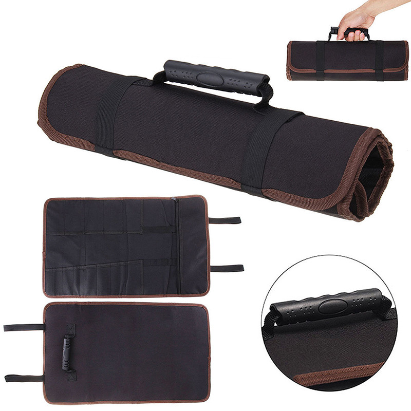 New 3 Color Chef Knife Bag Kitchen Cooking Portable Durable Storage Pockets Black Blue Red Roll Bag Carry Case Bag