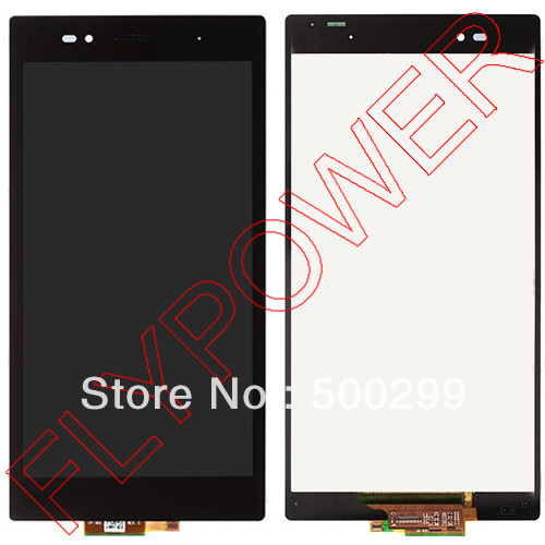 ФОТО For Sony Xperia Z Ultra XL39h XL39 C6833 C6802 LCD display with touch digitizer full assembly by free shipping; 100% original