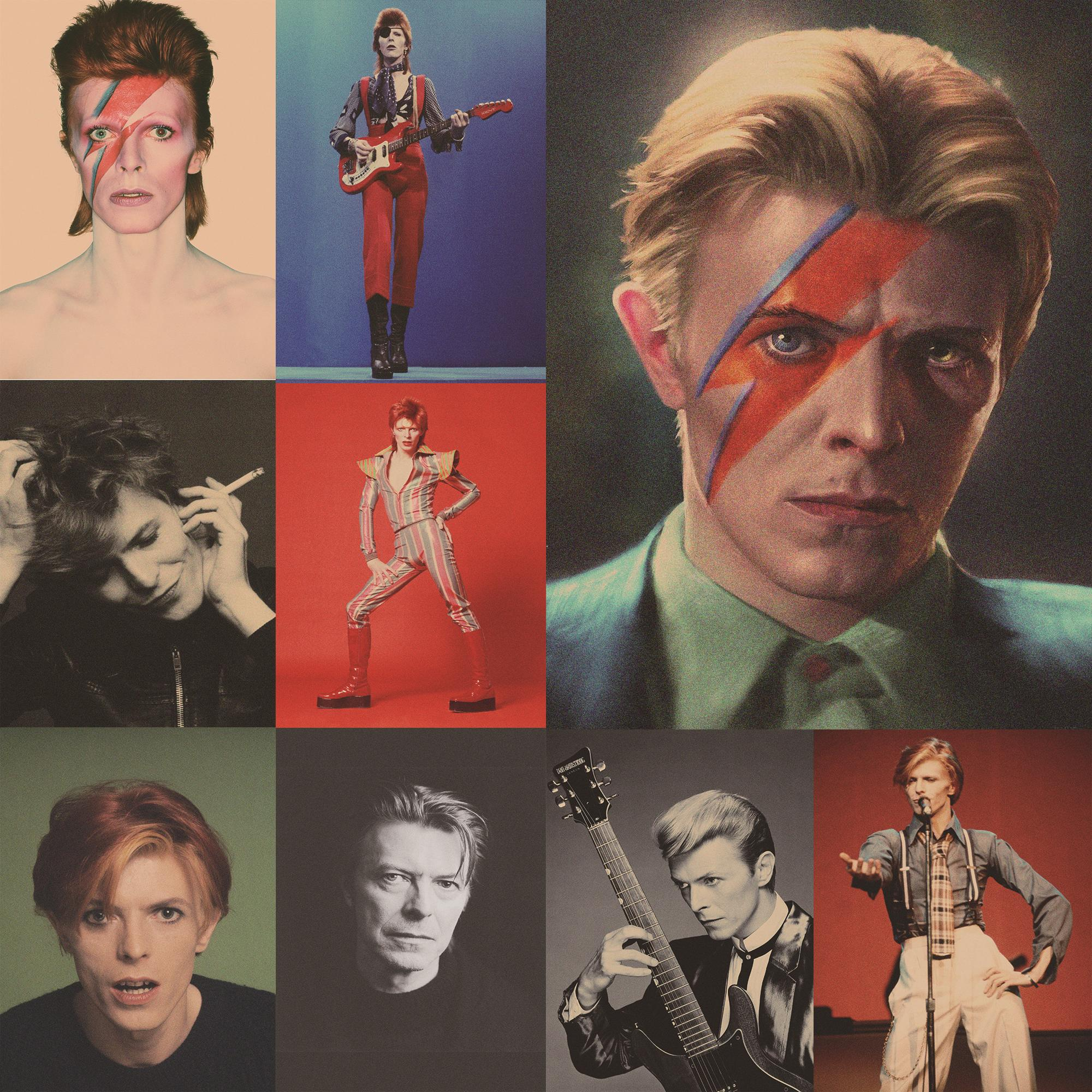 David Bowie Posters Rock Music Art Wall Stickers Brown Kraft Paper Vinatage Style Home Decoration