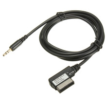 KROAK Car Auto 1.5M Music Interface AMI MMI to 3.5mm Audio AUX MP3 Adapter Cable For VW/Jetta/Goft/Mk5/AUDI A3