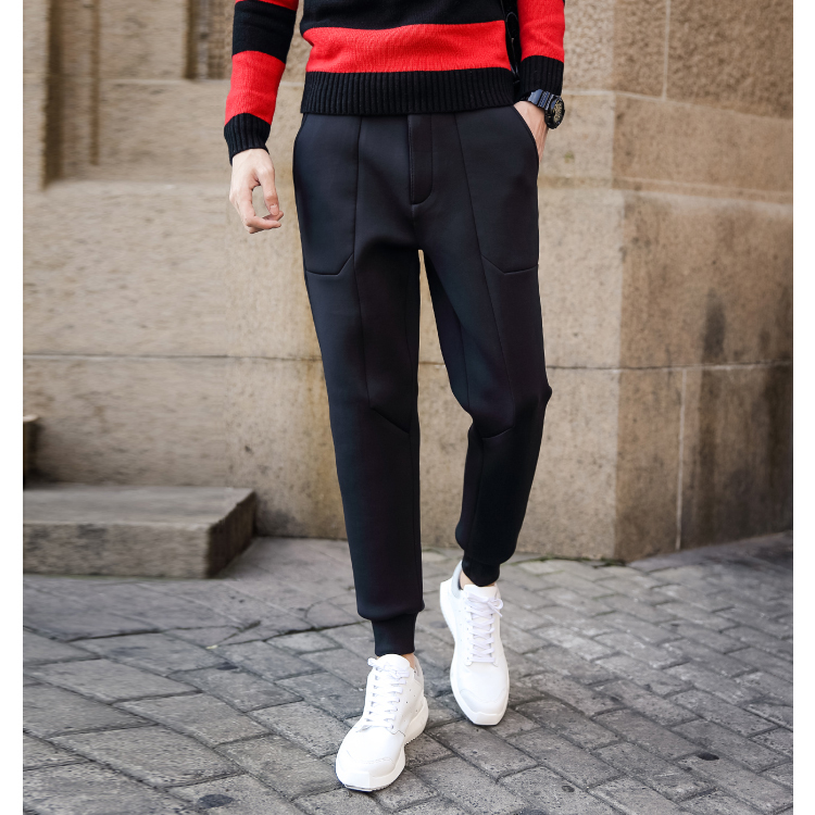 50f63b1b6 New Winter Fashion Joggers Pants Mens Space Cotton Long Trousers Mid Rise  Waist Casual Men's Sweatpants Mens Sport Pants Retails-in Casual Pants from  Men's ...