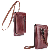 Shoulder Hook Loop Belt Clip Genuine Leather Mobile Phone Case For Xiaomi Mi A1 Redmi 5a