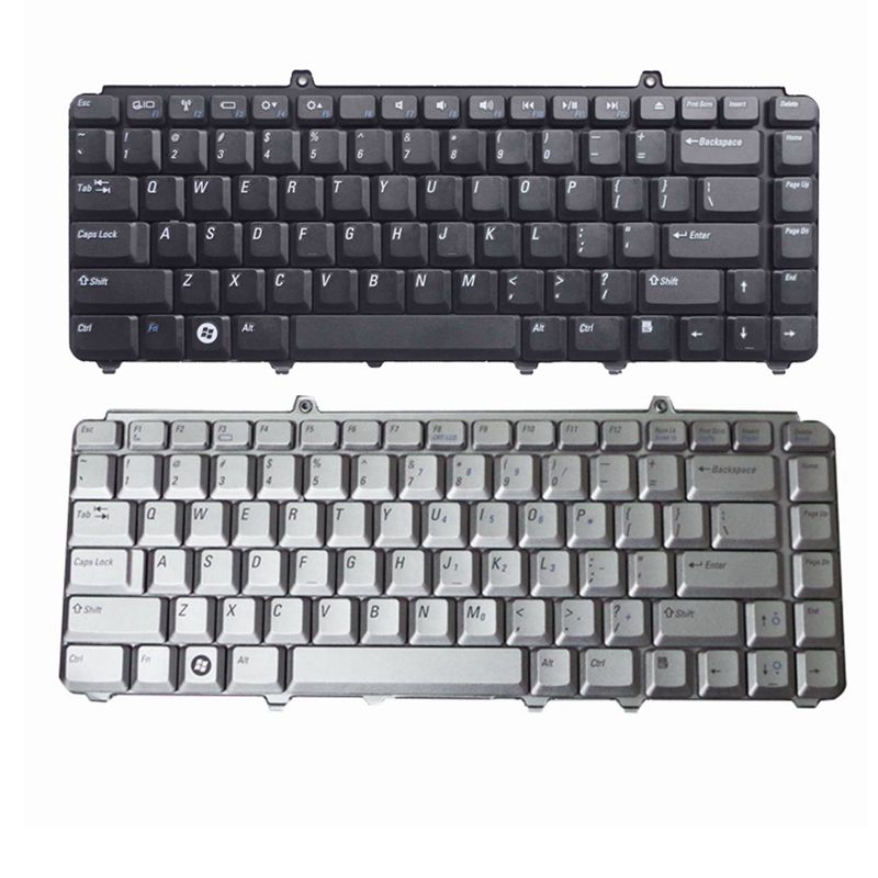 US Laptop Keyboard For Dell FOR Inspiron 1420 1520 1521 1525 NK750 R1-5-B08 PP29L XPS M1530 XPS M1330 US Silver And Black
