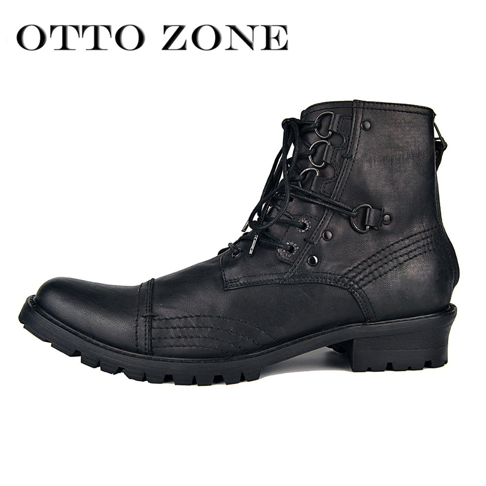 Men s Winter Boots Military Autumn Boot Genuine Leather Boots Ankle Shoes Chelsea Boots Designer Leather