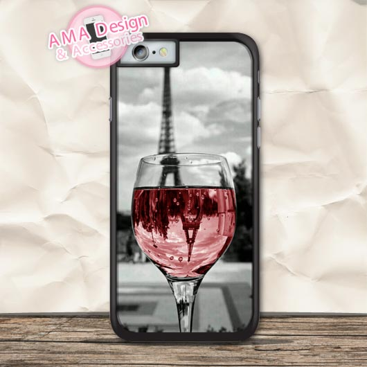 Paris Eiffel Tower And Wine Protective Case For iPhone X 8 7 6 6s Plus 5 5s SE 5c 4 4s For iPod Touch