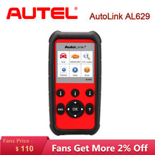 Autel AutoLink AL629 car diagnostic auto scania ABS/SRS/Engine CAN OBD2 Pro Service Tool As ML629 Ship from US
