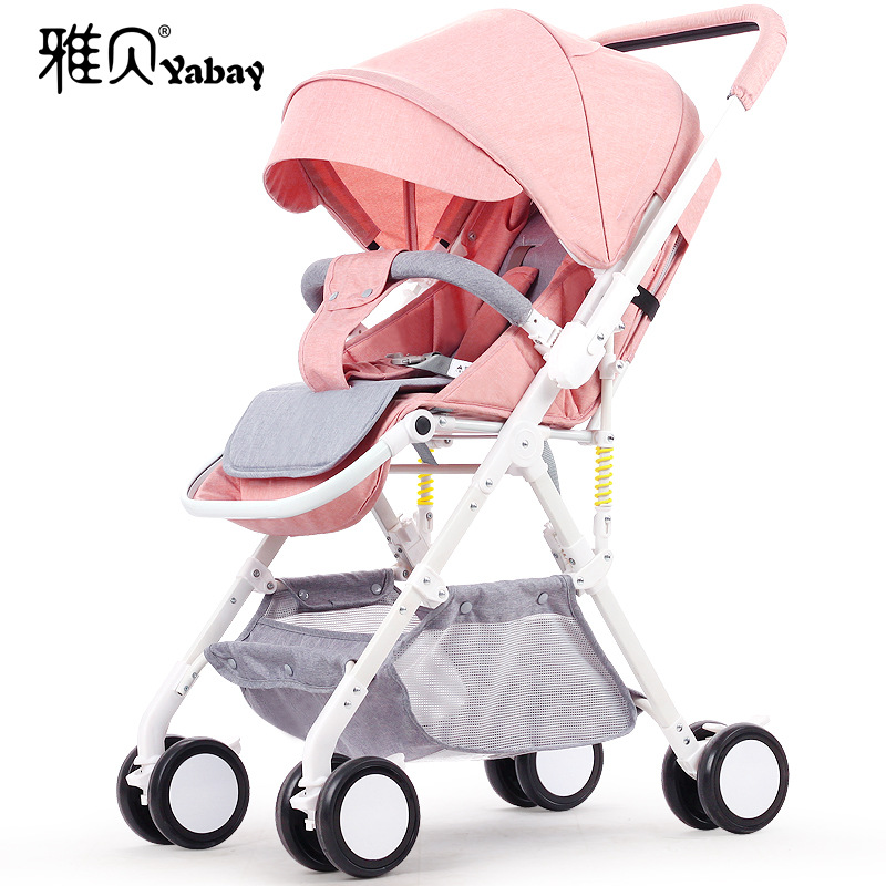 Baby stroller can sit and lying trolley 6KG ultra-light portable folding baby stroller high landscape umbrella car 4 6kg baby sleeping 180 degree light folding portable ultra light baby car umbrella two way summer child trolley baby stroller