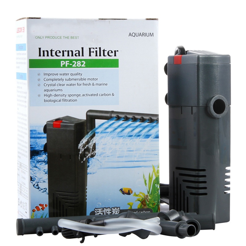 250l h aquarium turtle fish tank low water filtering for Outdoor fish tank filter