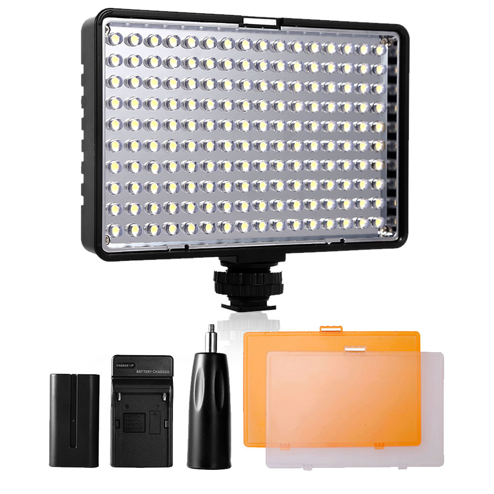Travor 160 LED Video Light Lamp light panel /on Camera 5600K/3200K Dimmable for Canon Nikon DSLR Camera Photography Lighting