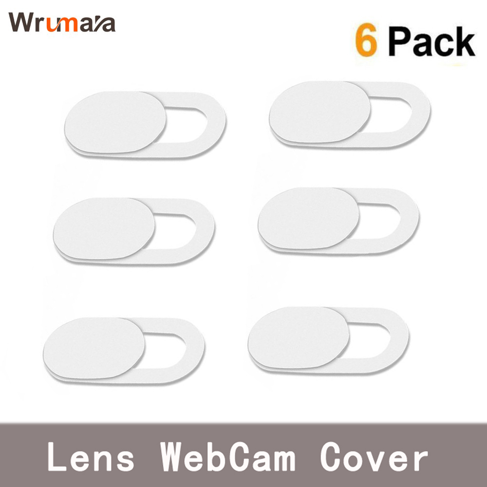 6PCS White WebCam Cover Shutter Slider Plastic Camera Cover for Web Cam IPhone PC Laptops Mobile Phone Lens Privacy Sticker armband for iphone 6