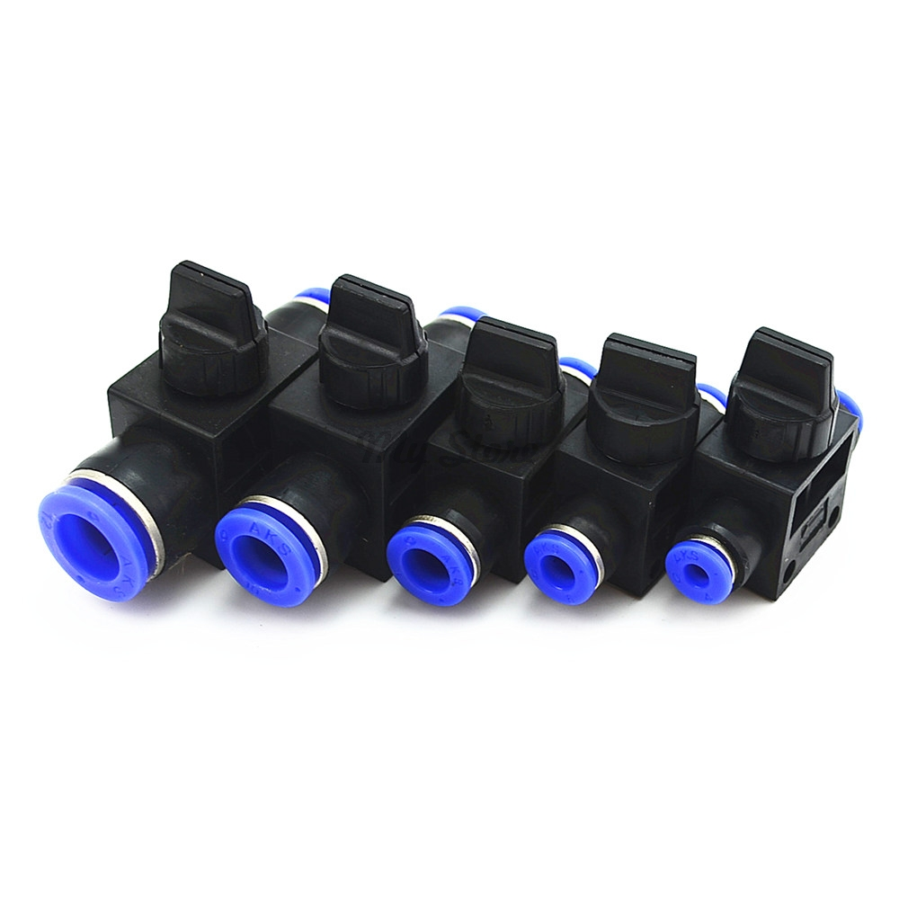 Improvement Pneumatic Air 2 Way Quick Fittings Push Connector Tube Hose Plastic 4mm 6mm 8mm 10mm 12mm Pneumatic Parts 5pcs hvff 08 pneumatic valve control hvff 8mm tube pipe hose quick connector hand valves plastic pneumatic hose air fitting