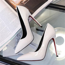 11cm Tacones Pointed Toe Black Heels