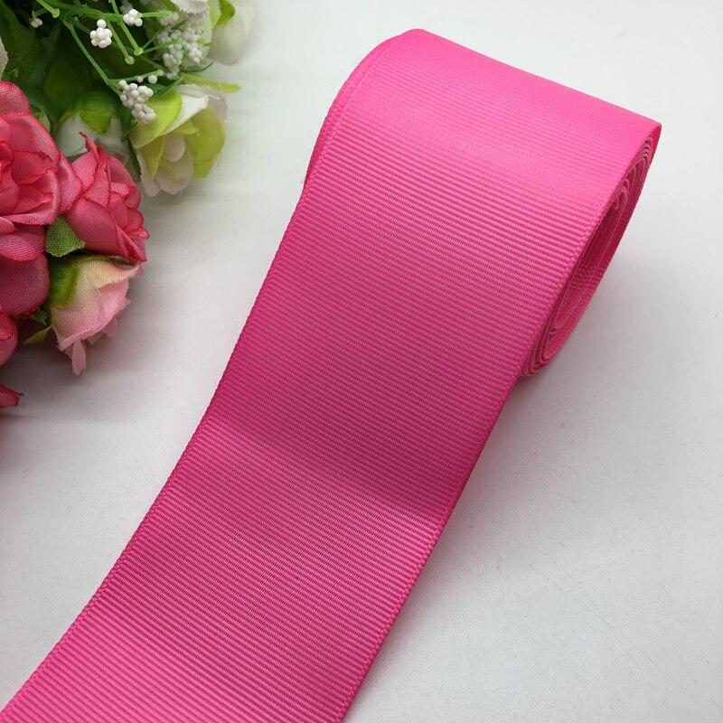 3 ярдов/партия 2 дюймов 50 мм широкий Роза Grosgrain ленты банты на голову Свадебные DIY ремесла