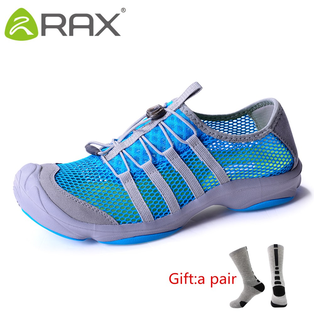 Rax Camping Hiking Shoes Men Summer Breathable Quick Drying Fishing Sneakers Women Lightweight Antiskid Outdoor With gift