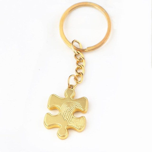 Mobile Games Identity V Clue Pieces Keychain Jigsaw Pieces Metal Car Keyring  Pendant Women Men Jewelry 12a0d03c8d
