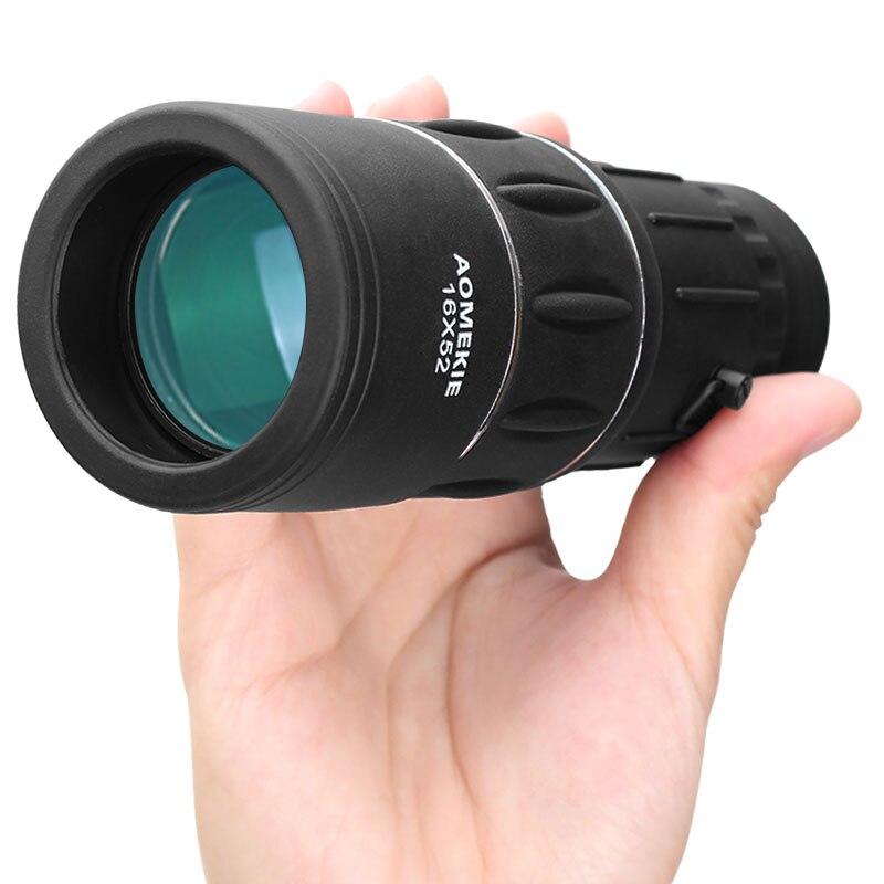 AOMEKIE 16X52 Monokulare Voll Beschichtete Objektiv Dual Konzentrieren High Power HD Outdoor Angeln Jagd Teleskop Vogelbeobachtung Spotting umfang