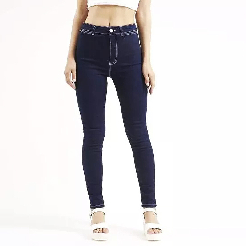 Fashion Skinny Style High Waist Jeans Female Trousers Autumn & Winter Tight Elastic Black Dark Blue Pencil Pants new fashion spring autumn elastic high waist jeans female tight fitting skinny pants trousers plus size slim pencil pants
