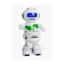 New Arrival Green Electronic Walking Dancing To Drum Smart Bot Robot Astronaut K