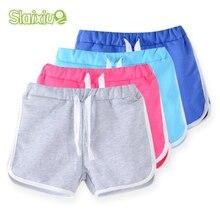Хлопковые шорты для девочек, детская одежда, новые яркие цвета, детские пляжные штаны шорты для мальчиков