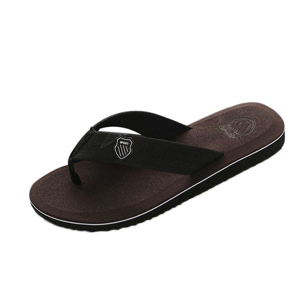 Домашние и уличные мужские тапочки; Летние вьетнамки; мужские тапочки; модная пляжная Повседневная обувь; тапочки; мужские шлепанцы - Цвет: B