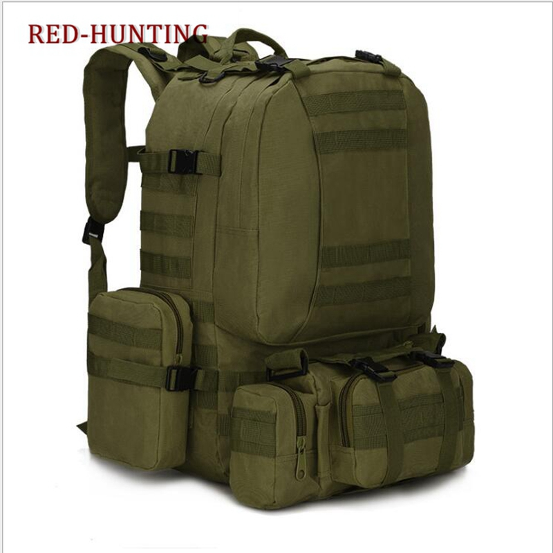 50L Military Tactical Bag Mountaineering Hiking Travel Camping Backpack Outdoor