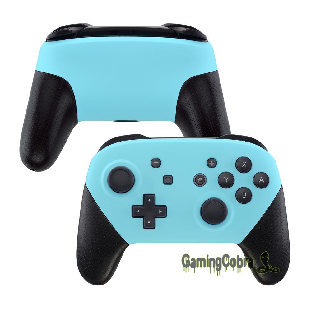 Tüketici Elektroniği'ten Kılıflar'de Yumuşak Dokunmatik Cennet Mavi Ön ve Arka Plaka Yedek Shell Konut Kılıf Kapak Nintendo Anahtarı Pro Denetleyicisi için title=