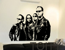 Metallica Banda Estadounidense de Heavy Metal Music Vinyl Decals Pegatinas de Pared Dormitorio Poster Art Decor Home Room Interior Creativo Mural(China (Mainland))