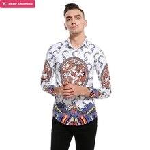 External model, European code, new style, long name family, wind print pattern, long sleeve shirt, C417 christina skye code name bikini