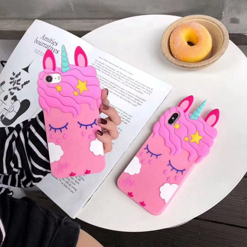 case cover For iphone 7 8 6s plus case for iphone X XR XS MAX for iphone 5 5s se Cartoon eyelash horse silicone phone case coque in Fitted Cases from Cellphones Telecommunications