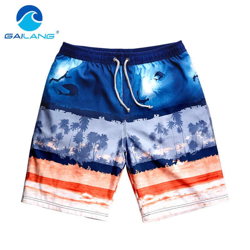 Marca gailang, pantalones cortos de playa para hombre, bañadores, pantalones cortos informales para hombre, bermudas, pantalones cortos para correr, pantalones cortos de secado rápido, tronco