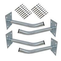 4 Pcs Wheel Hangers Set Wall Mount Tire Storage Rack Space Saving Wheel Storage Holder For Garage Shed Tire Holder Accessories