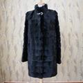 Customizable Women`s Real Mink fur Coat Thick Warm Coat Winter Outwear Natural Color Parka For Women`s Genuine Fur Coat  Female
