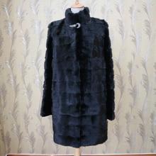 Настраиваемые женская Настоящее норки Пальто Толщиной Теплое Пальто Зимний Пиджаки Натуральный Цвет Куртка Для женщин Из Натурального Меха пальто Женщина
