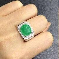 2017 г. jewelry QI xuan_fashion jewelry_colombia зеленый камень моды Ring_S925 чистого серебра Для мужчин ring_factory непосредственно продаж
